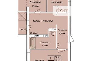 Продажа квартиры, Тернополь, р‑н.Дружба, р-нБерегиня, дом 20