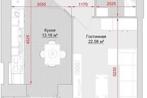 Продается 1-комнатная квартира 58 кв. м в Кременчуге