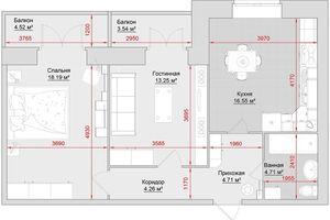 Продается 2-комнатная квартира 68 кв. м в Кременчуге
