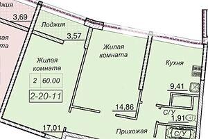 Продається 2-кімнатна квартира 60 кв. м у Одесі