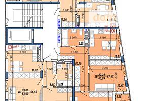 Продается 2-комнатная квартира 63.14 кв. м в Тернополе