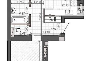 Продается 2-комнатная квартира 60.5 кв. м в Ирпене