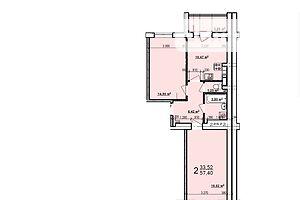 Продаж квартири, Харків, р‑н.Індустріальний, ст.м.Індустріальна, Мирувулиця, буд. 55