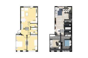 Продается 3-комнатная квартира 87.97 кв. м в Черноморске