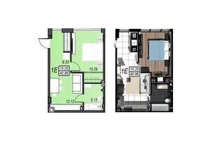 Продается 1-комнатная квартира 40.86 кв. м в Черноморске