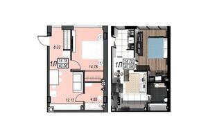 Продается 1-комнатная квартира 40.08 кв. м в Черноморске