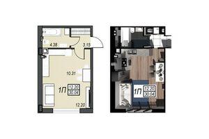 Продается 1-комнатная квартира 30.01 кв. м в Черноморске