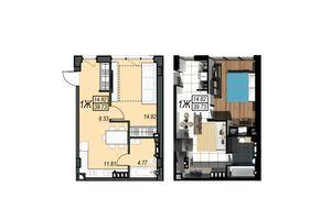 Продается 1-комнатная квартира 39.73 кв. м в Черноморске