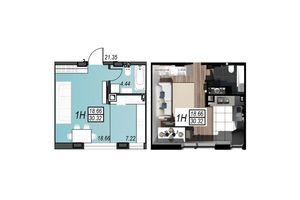 Продается 1-комнатная квартира 30.13 кв. м в Черноморске