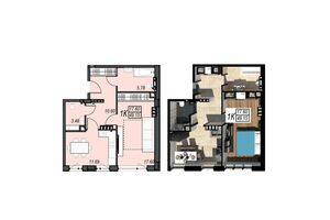 Продается 1-комнатная квартира 49.15 кв. м в Черноморске