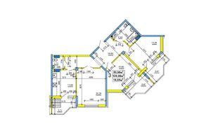 Продается 3-комнатная квартира 109.19 кв. м в Черкассах