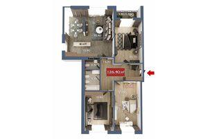 Продається 4-кімнатна квартира 126.4 кв. м у Чернівцях
