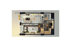 Продається 1-кімнатна квартира 54.05 кв. м у Одесі