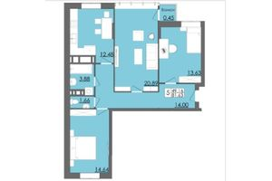 Продается 3-комнатная квартира 81.63 кв. м в Черновцах