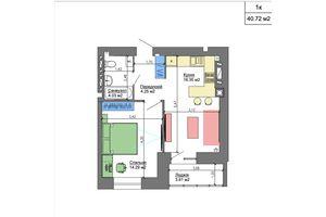 Продается 1-комнатная квартира 41.76 кв. м в Николаеве