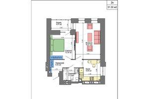 Продается 2-комнатная квартира 51.77 кв. м в Николаеве