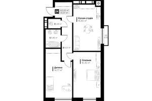 Продається 2-кімнатна квартира 62.2 кв. м у Львові