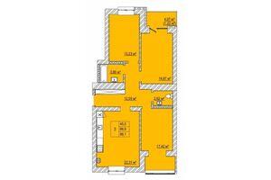 Продается 3-комнатная квартира 88.1 кв. м в Луцке