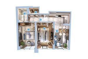 Продается 2-комнатная квартира 70.75 кв. м в Одессе