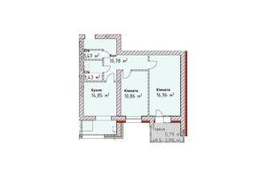 Продается 2-комнатная квартира 59.7 кв. м в Одессе