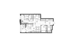 Продается 1-комнатная квартира 64.86 кв. м в Киеве