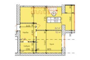 Продається 3-кімнатна квартира 86.9 кв. м у Хмельницькому