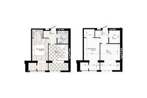 Продається 1-кімнатна квартира 45.75 кв. м у Одесі