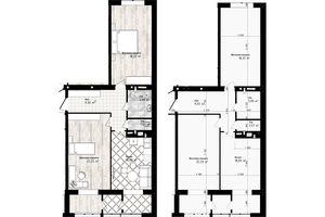 Продається 2-кімнатна квартира 73.44 кв. м у Одесі