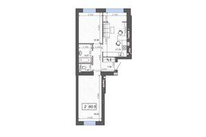 Продається 2-кімнатна квартира 60.5 кв. м у Ірпені