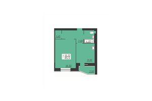Продається 1-кімнатна квартира 45.5 кв. м у Городку
