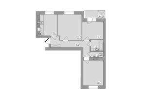 Продається 3-кімнатна квартира 72.1 кв. м у Рівному