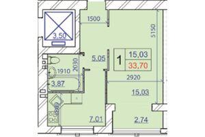 Продается 1-комнатная квартира 33.7 кв. м в Хмельницком