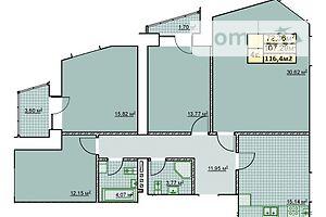 Продается 4-комнатная квартира 116.4 кв. м в Ивано-Франковске