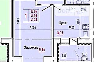 Продается 1-комнатная квартира 47 кв. м в Сумах