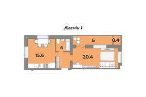 Продается 1-комнатная квартира 48 кв. м в Луцке