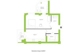 Продается 1-комнатная квартира 48.4 кв. м в Луцке
