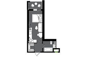 Продается 1-комнатная квартира 31.48 кв. м в Одессе
