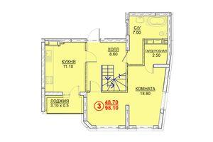 Продается 3-комнатная квартира 98.1 кв. м в Вышгороде