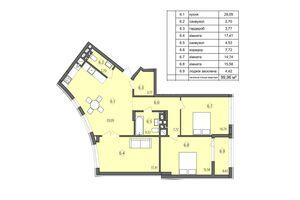 Продається 3-кімнатна квартира 99.96 кв. м у Тернополі
