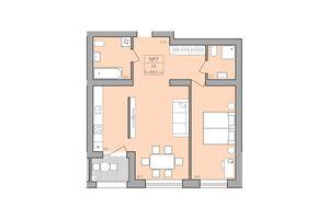 Продається 2-кімнатна квартира 68.5 кв. м у Тернополі