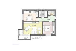 Продается 2-комнатная квартира 59.55 кв. м в Ровно