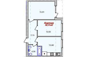 Продается 2-комнатная квартира 54.13 кв. м в Ужгороде