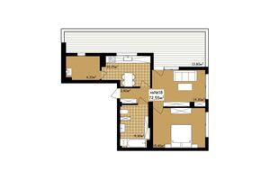 Продается 2-комнатная квартира 72.55 кв. м в Черновцах
