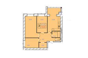 Продается 3-комнатная квартира 79.8 кв. м в Хмельницком