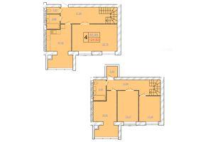 Продается 4-комнатная квартира 124.52 кв. м в Хмельницком