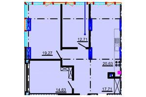 Продається 3-кімнатна квартира 94.16 кв. м у Дніпрі