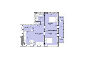 Продається 3-кімнатна квартира 69.81 кв. м у Тернополі