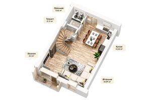 Продается дом на 4 этажа 163.62 кв. м с бассейном