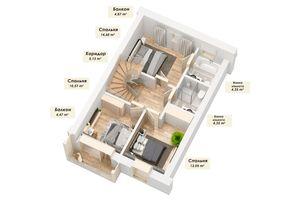 Продается дом на 4 этажа 184.93 кв. м с террасой