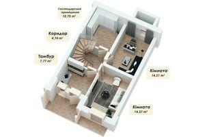 Продается дом на 4 этажа 150.53 кв. м с мансардой